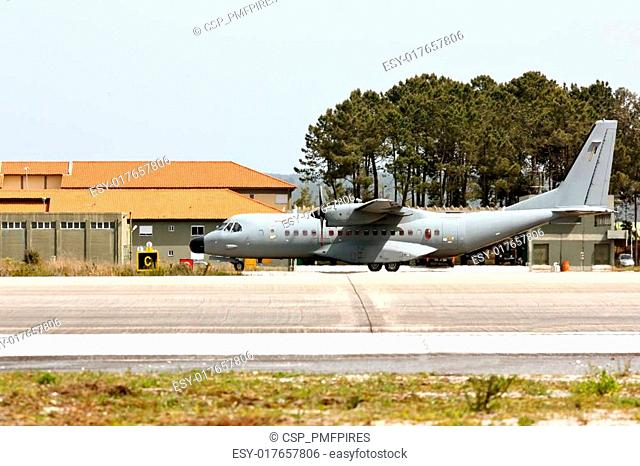 MONTE REAL, PORTUGAL-APRIL 7: EADS CASA C-295 Portuguese taxing. Participating in Real Thaw Nato exercise at Base N.5 MONTE REAL