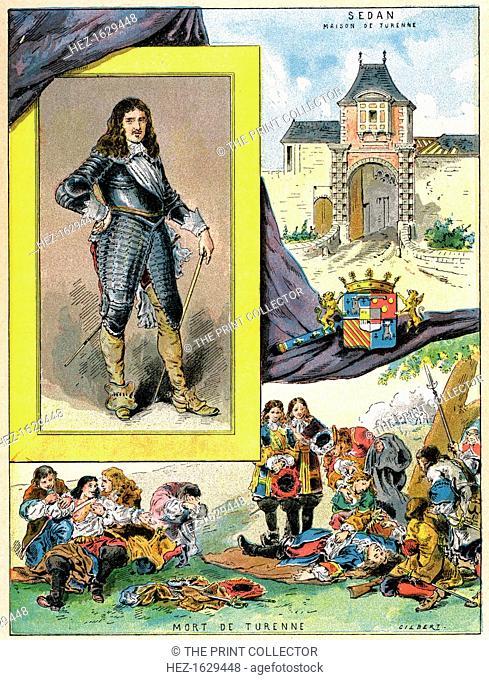 Turenne, Henri de La Tour d?Auvergne, marshal of France, 1898. A print from Les Français Illustres, by Gustave Demoulin, Hachette, Paris, 1898