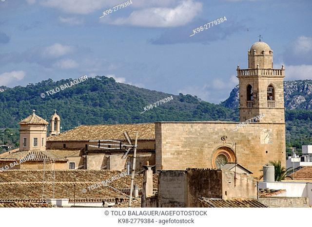 Church of Convent de Sant Bonaventura. devoted to Bonaventura de Bagnoregio. Llucmajor, Mallorca , Balearic Islands, Spain