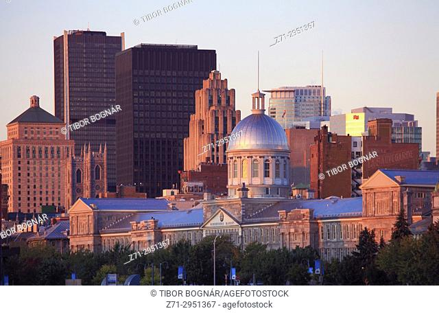 Canada, Quebec, Montreal, skyline, Old Montreal,