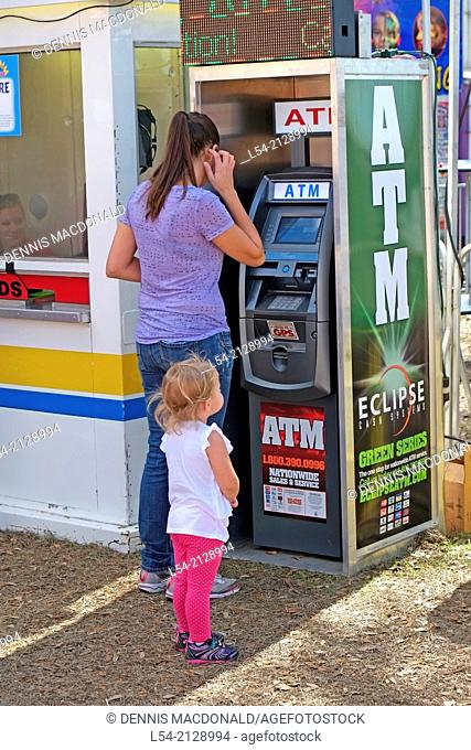 ATM Machine for withdrawing and depositing cash money