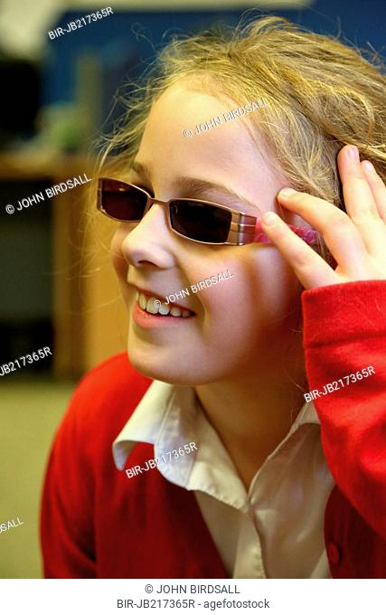 Portrait of young girl with visual impairment, Mysight Nottinghm
