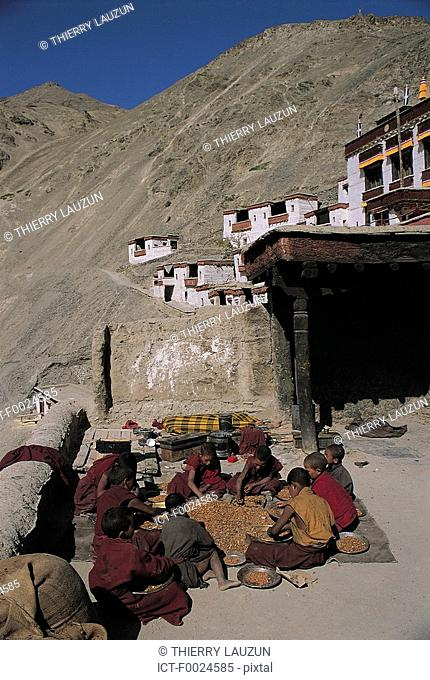 India, Jammu and Kashmir, Ladakh, Rizong Monastery