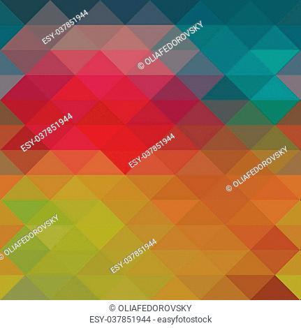 Triangle neon seamless background, pattern, geometric