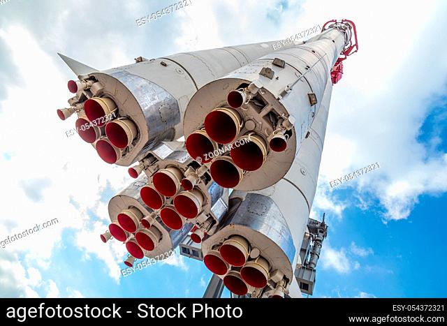 Monument of russian space rocket Vostok one