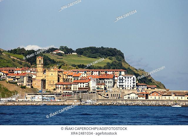 Panoramica de Getaria, Getaria, Gipuzkoa, Pais Vasco, Spain