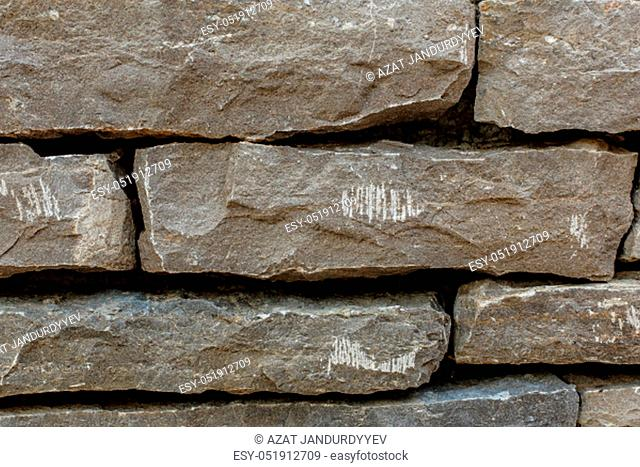 the texture of the stone wall, made an ancient look