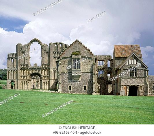 Castle Acre Priory.View from East