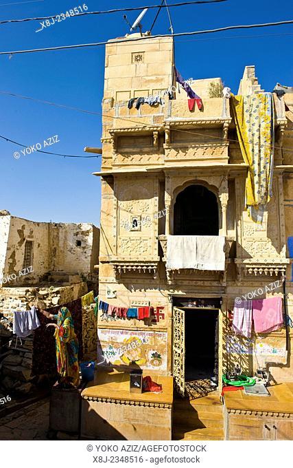 India, Rajasthan, Jaisalmer, traditional house