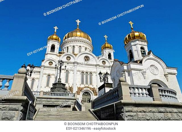 Russian Orthodox Church of Cathedral of Christ the Saviour in Moscow, Russia