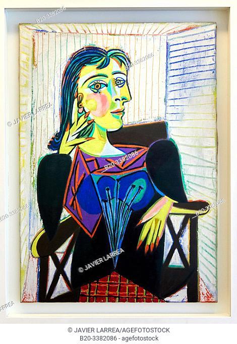 """""""Portrait de Dora Maar"""", 1937, Pablo Picasso, Picasso Museum, Paris, France, Europe"""
