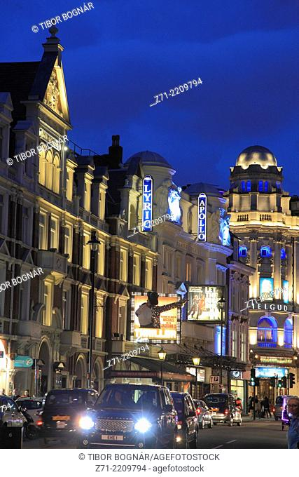 UK, England, London, Theatre District, Shaftesbury Avenue,