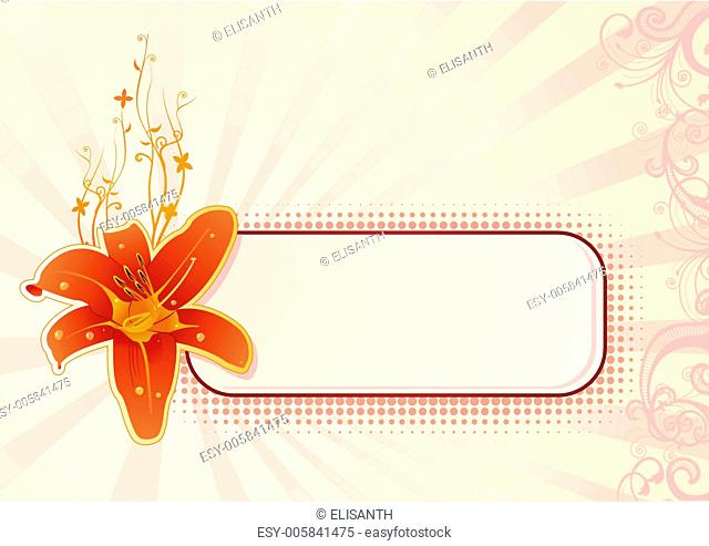 Vector horizontal wallpaper with orchid