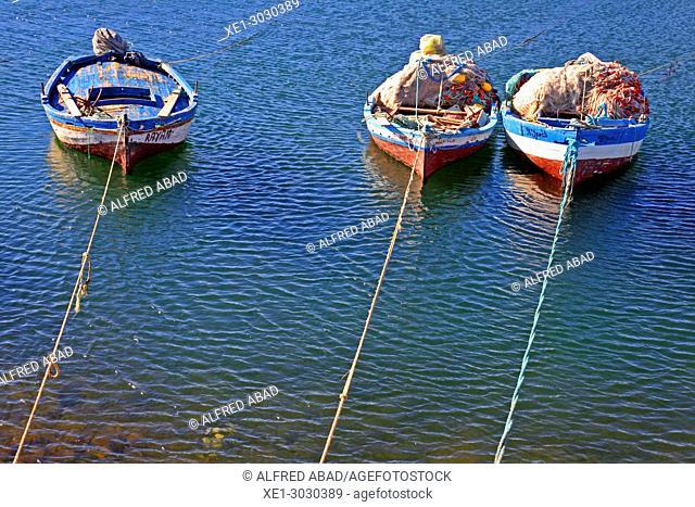 boats in fishing port, Zarat, Tunisia