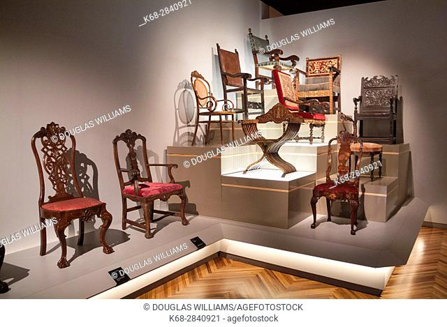 Chairs in the Museo Franz Mayer in Mexico City, Mexico