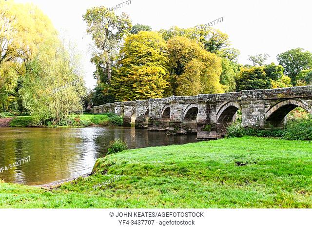 Essex Bridge is a Grade I listed packhorse bridge over the River Trent near Great Haywood, Staffordshire, England. . Spanning the Trent 100 metres downstream of...