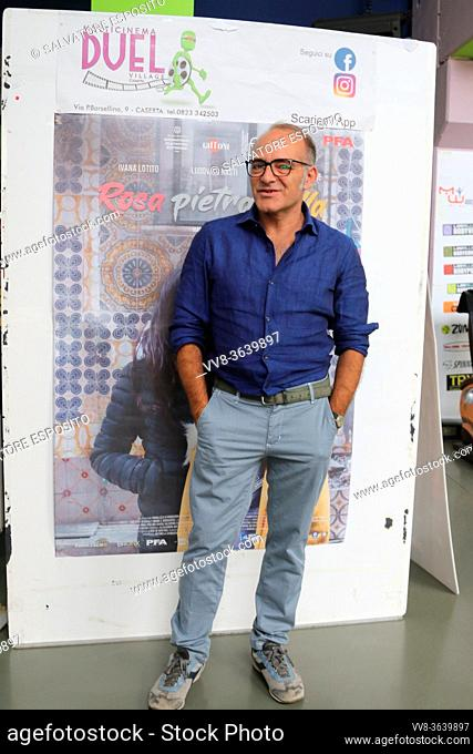 The director and documentary maker Marcello Sannino and the actress, Ludovica Nasti, attend movie titled ROSA PIETRA STELLA for opening new film season of the...