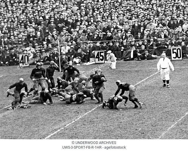 New York, New York: November 10, 1928.Jack Chevigny of Notre Dame gains five yards in the game against Army at Yankee Stadium