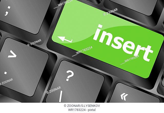 insert word on computer pc keyboard key
