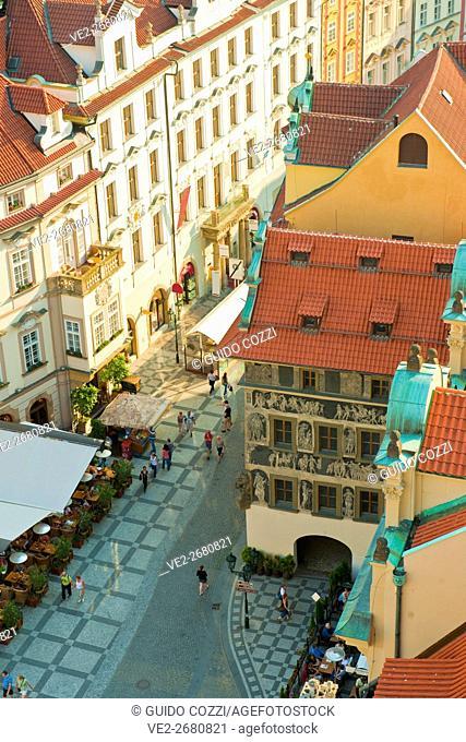Staromestske Namesti view from Old Town City Hall Tower, Prague, Czech Republic
