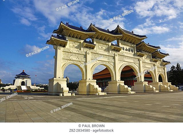 The National Chiang Kai Shek Memorial Hall and Main Gate in Taipei, Taiwan