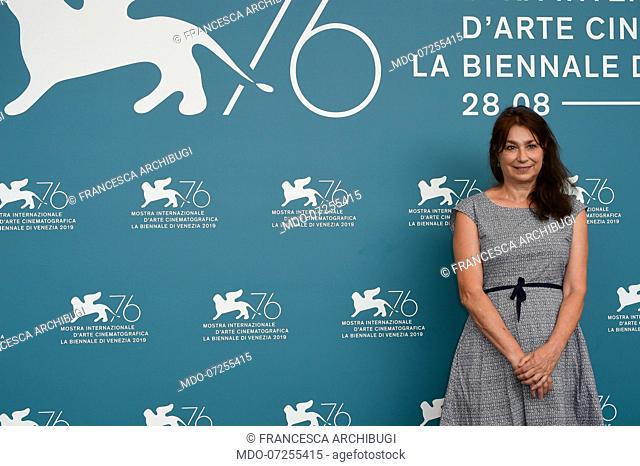 Francesca Archibugi at the 76 Venice International Film Festival 2019. Vivere photocall. Venice (Italy), August 31st, 2019