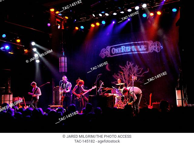 OneRepublic performing at the House of Blues on Sunset in West Hollywood, Ca