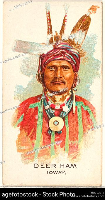 Deer Ham, Ioway, from the American Indian Chiefs series (N2) for Allen & Ginter Cigarettes Brands. Publisher: Issued by Allen & Ginter (American, Richmond