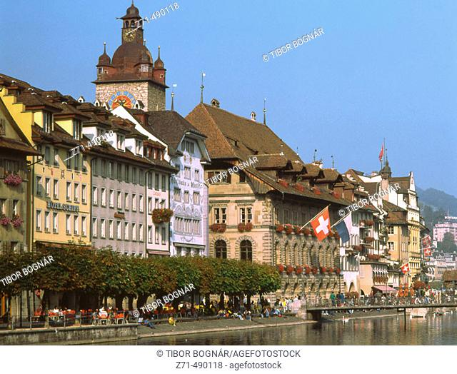 Town Hall, riverside, Luzern, Switzerland