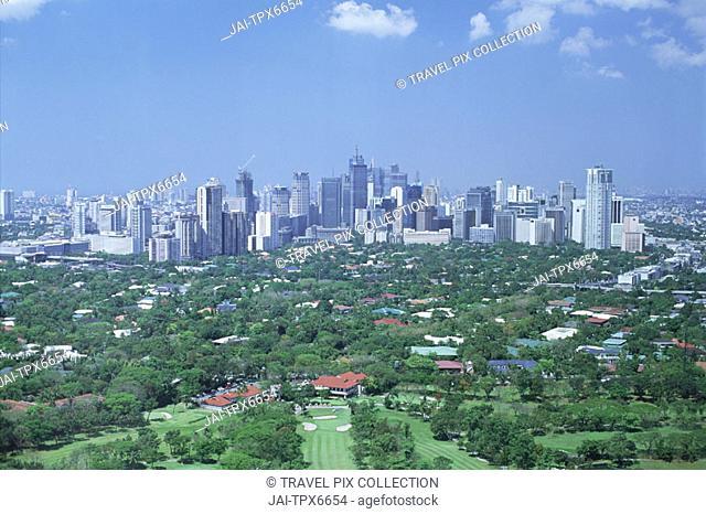 Philippines, Manila, Makati Business Area Skyline