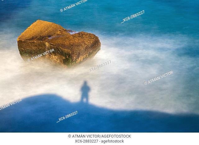 Tajao seascape in Tenerife island. Spain