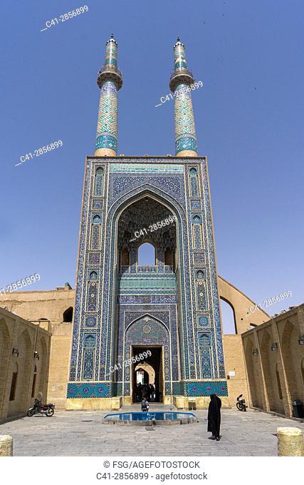 Jame Mosque. Yazd. Iran