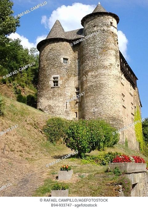 Castle, Vieillevie. Cantal, Auvergne, France