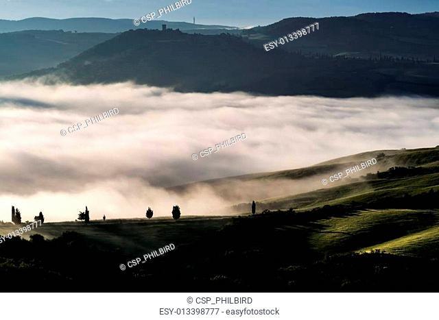 Sunrise over Val dOrcia