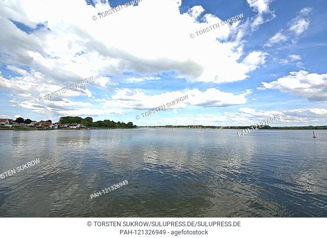 09.06.2019, the Schlei in Schleswig. The Ostseefjord, a Baltic Sea inlet filled with brackish water, is a popular sailing area