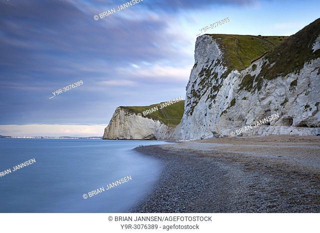 Sunrise over Bats Head and the Jurassic Coast near Durdle door, Dorset, England