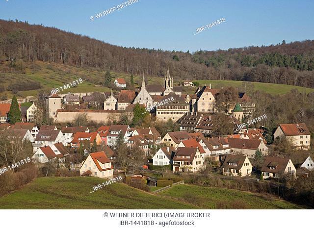 View of castle and Bebenhausen monastery, Tuebingen-Bebenhausen, Tuebingen, Baden-Wuerttemberg, Germany, Europe