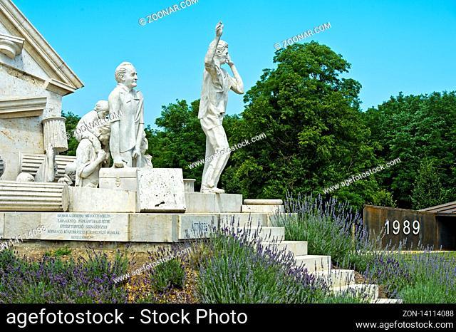 Der Durchbruch - Statue der Europäischen Freiheit von Miklos Melocco in Erinnerung an das Paneuropäische Picknick am 19. August 1989 am einstigen Eisernen...
