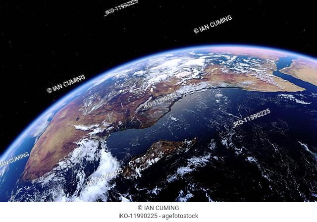 East Africa, Madagascar and the Indian Ocean from space