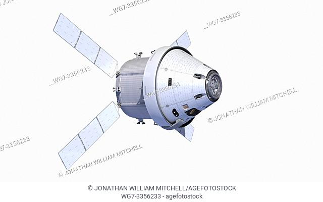 OUTER SPACE -- 13 Aug 2015 -- Artist's rendering of the new Orion spacecraft with the ESA Service Module. NASA's Orion Program kicked off its critical design...