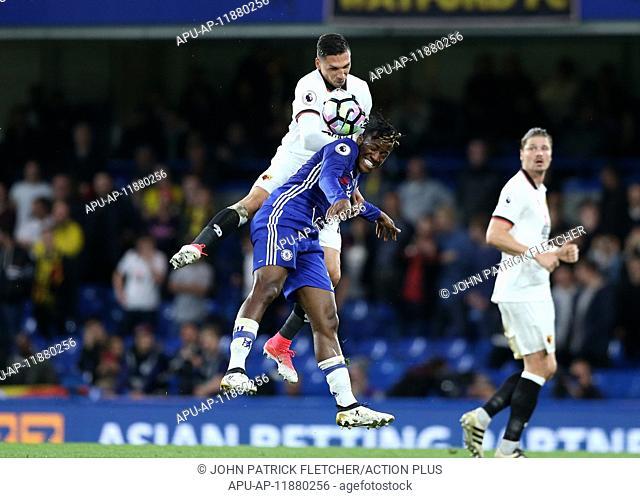 2017 Premier League Chelsea v Watford May 15th. May 15th 2017, Stamford Bridge, London, England; EPL Premier League football