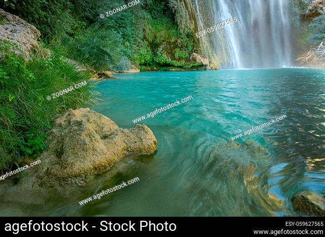 Sillans waterfall in the south of France in the Var