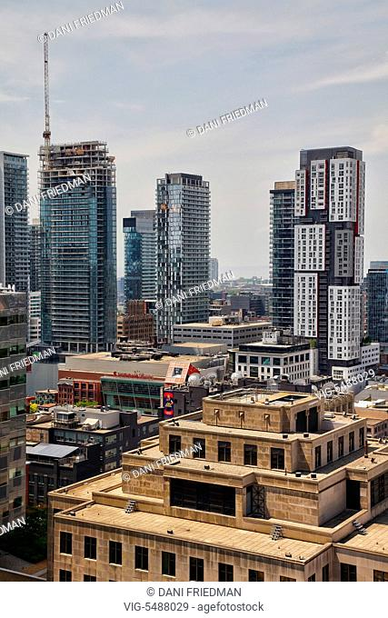 Elevated view of buildings in downtown Toronto, Ontario, Canada. - TORONTO, ONTARIO, CANADA, 29/05/2016
