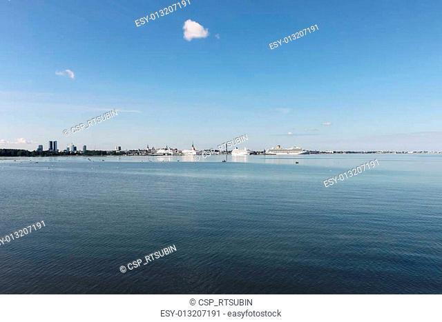 Wide shot of the Capital Tallinn, Estonia