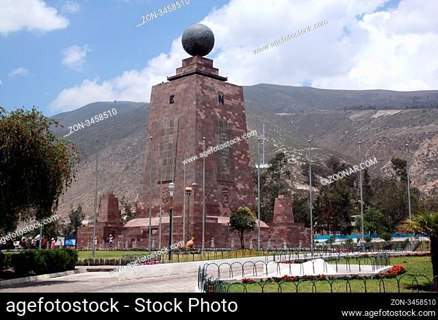 Monument Mitad del Mundo near Quito, Ecuador