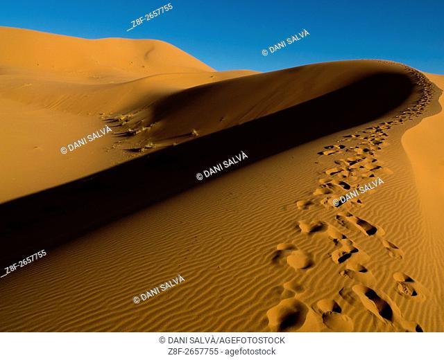 The Erg Chebbi sand dunes in Merzouga