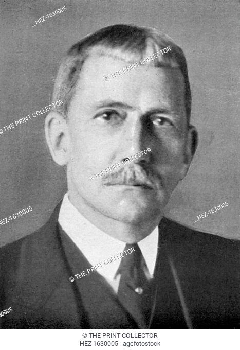 Elihu Root (1845-1937), American lawyer and statesman, 1926. Root was the 1912 recipient of the Nobel Peace Prize. From An Outline of Christianity