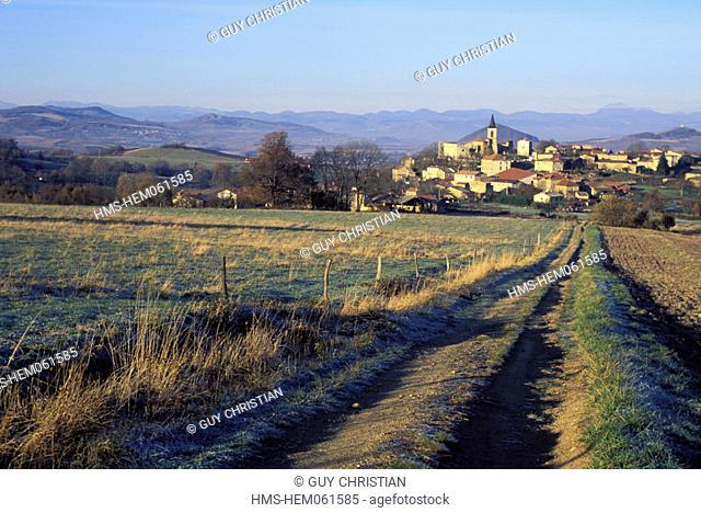 France, Puy-de-Dôme (63), Livradois-Forez natural regional park, village of Egliseneuve-près-Billon