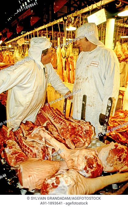 Smithfield night meat market  London  England