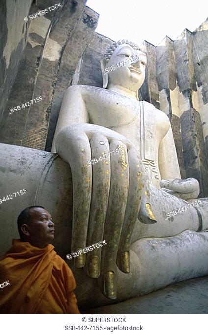 Seated Buddha, Wat Si Chum, Sukhothai, Thailand